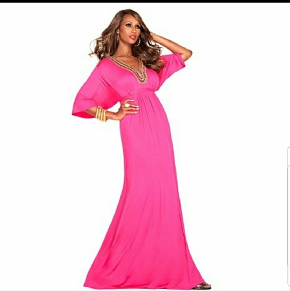 eb3fd2e80f6 IMAN Global Chic Glam to the Max Maxi Dress